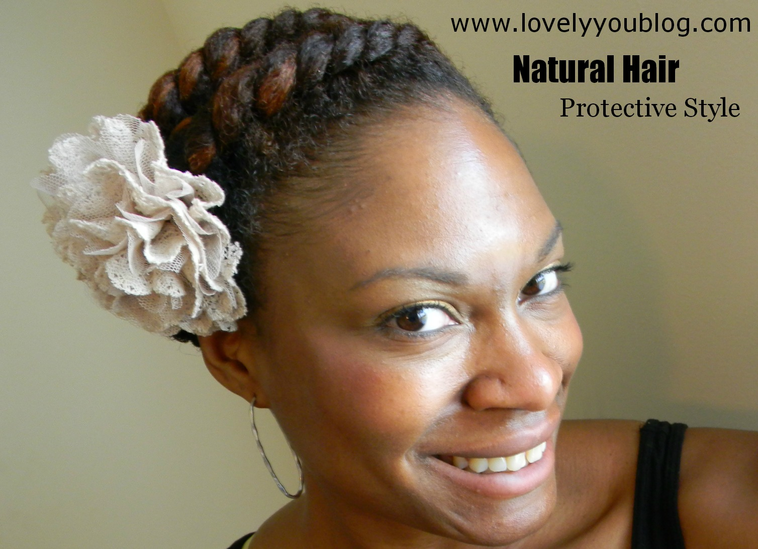 Flat Twist Protective Style Natural Hair